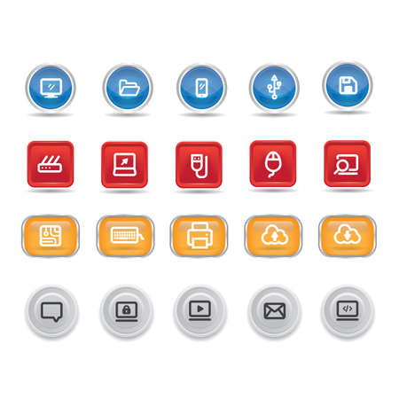 set of user interface buttons 스톡 콘텐츠 - 106673532