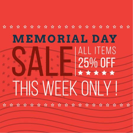 memorial day promotion Ilustrace