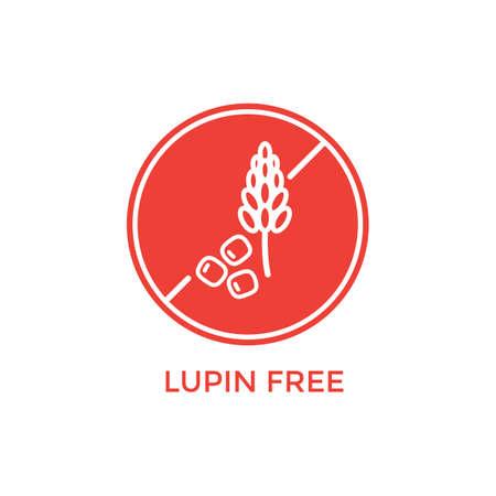 lupin free label Иллюстрация