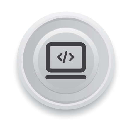 program code button Illustration