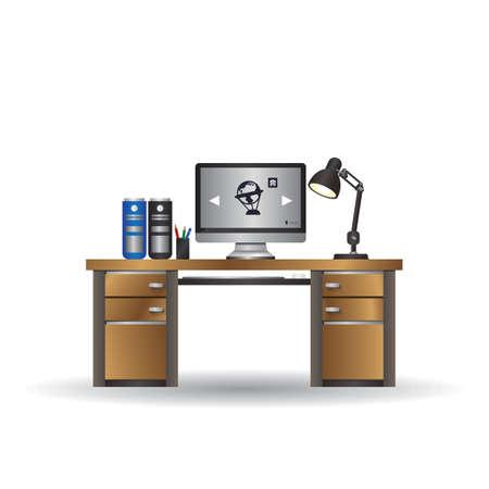 office desk 版權商用圖片 - 106673553