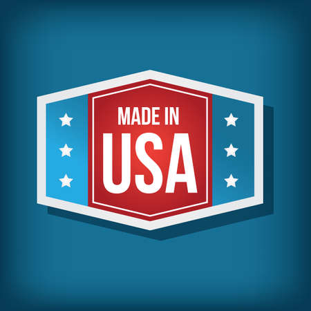 A made in USA label illustration. Stock Vector - 81486806