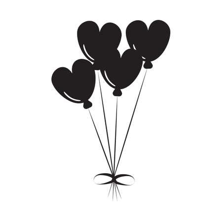 심장 모양의 풍선