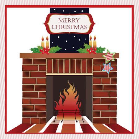 merry christmas card design Vector Illustration