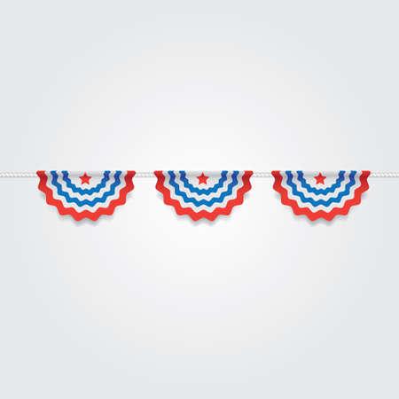 USA bunting flags illustration. Illustration