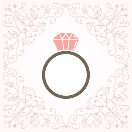 ring-pictogram Stock Illustratie