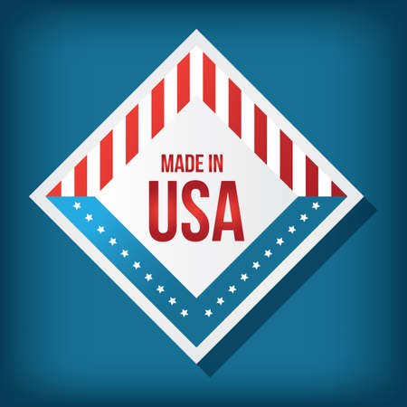 A made in USA label illustration.