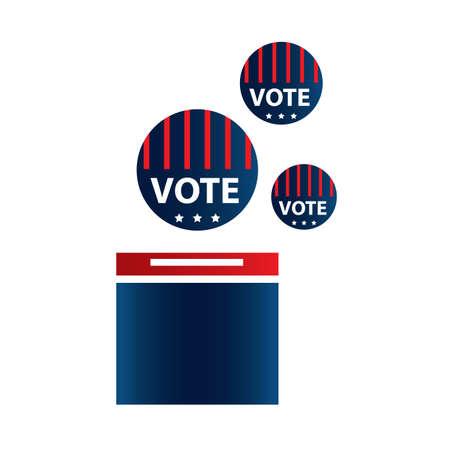 투표 용지함 그림입니다. 스톡 콘텐츠 - 81486882