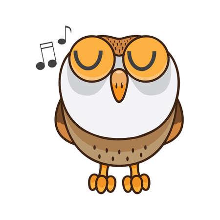 Owl singing Reklamní fotografie - 81470578