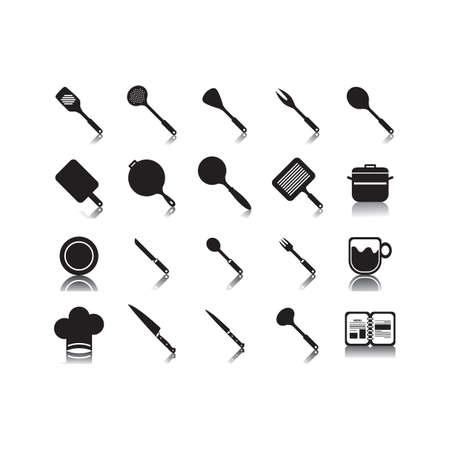 Küchenutensilien-Set Standard-Bild - 81536336