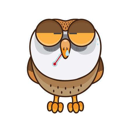 Owl feeling sick
