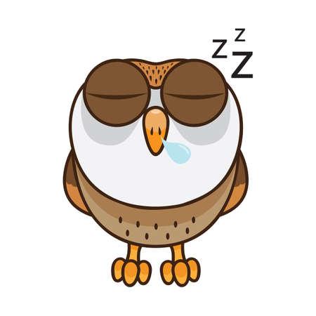 Uil slaapt