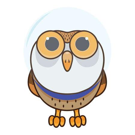 Owl wearing glass helmet Stok Fotoğraf - 81470591
