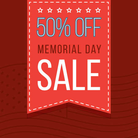 memorial day promotion Illustration