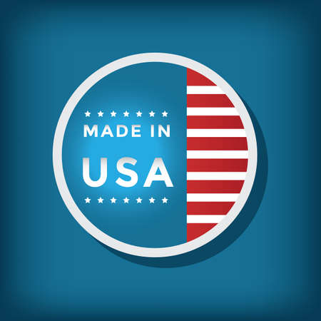 made in usa label Illustration