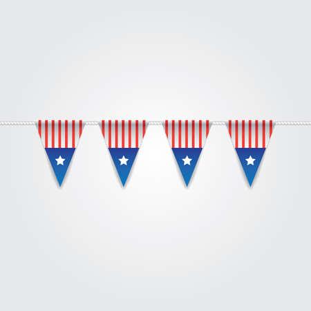 USA Flaggenflaggen Standard-Bild - 81486930