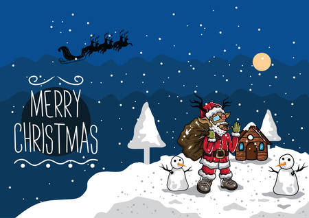 reindeer as santa