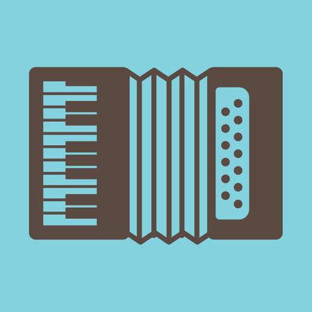 Accordion icoon Stock Illustratie
