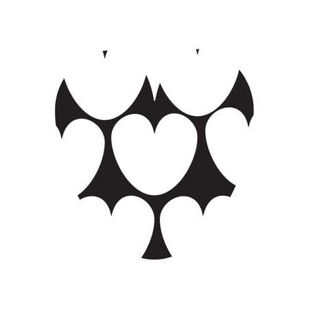 paper cut out of heart Ilustração