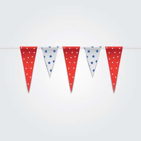 usa bunting flags Иллюстрация