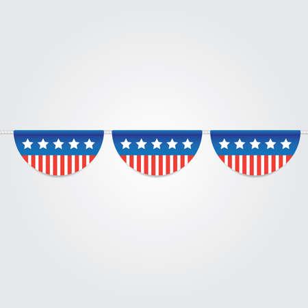 usa bunting flags Ilustração