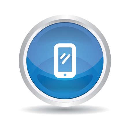 smartphone button Stock Vector - 106673660