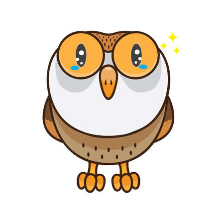 Owl with sparkling eyes