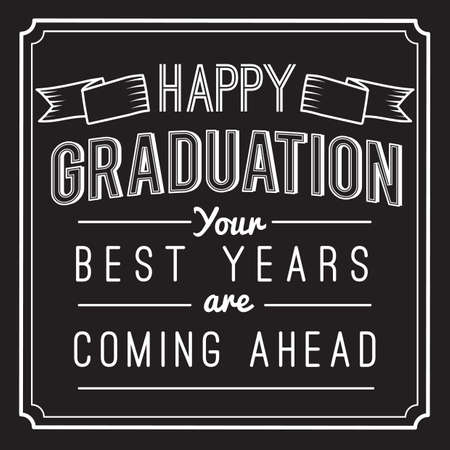 Happy graduation text Illustration