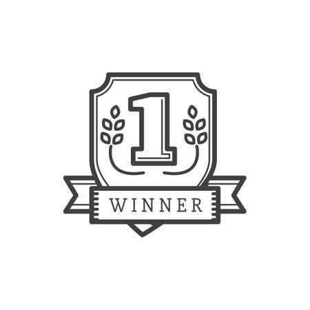 winner shield Illustration