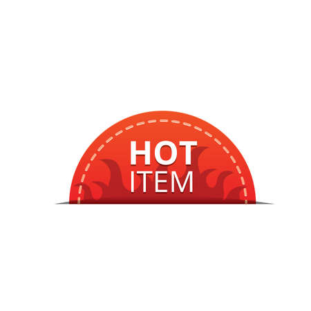 hot item label Ilustrace