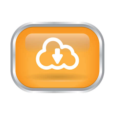 cloud download button 向量圖像