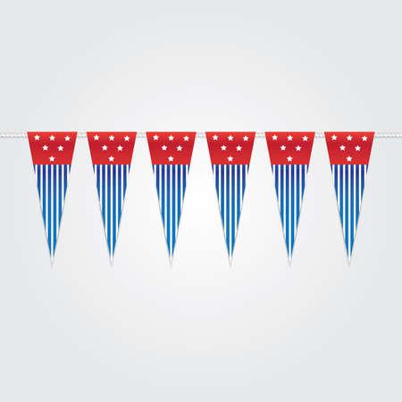 usa bunting flags Illustration