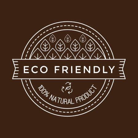 eco friendly label Banco de Imagens - 106673682