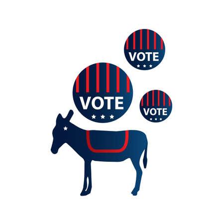 Een politieke illustratie van het partijsymbool.