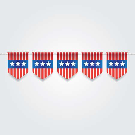USA Flagge Flagge Abbildung. Standard-Bild - 81486951