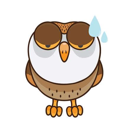 フクロウの緊張感