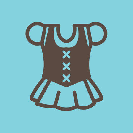 Dirndl icon Illustration