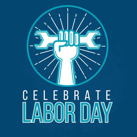 労働者の日のポスターのイラスト。
