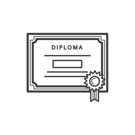 a diploma certificate Archivio Fotografico - 106673696