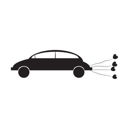 carro com balões Ilustración de vector