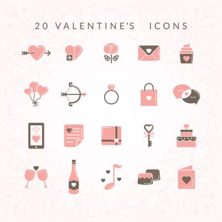 Valentines icons 版權商用圖片 - 81470641