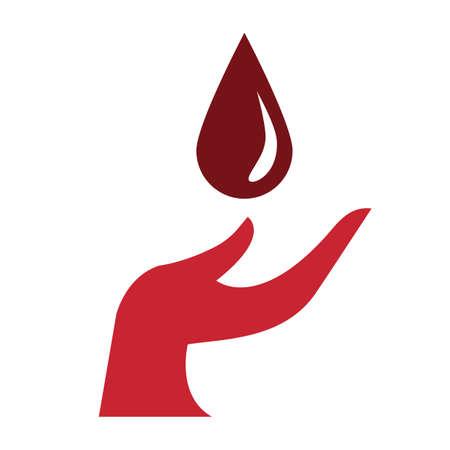donate blood concept Illustration