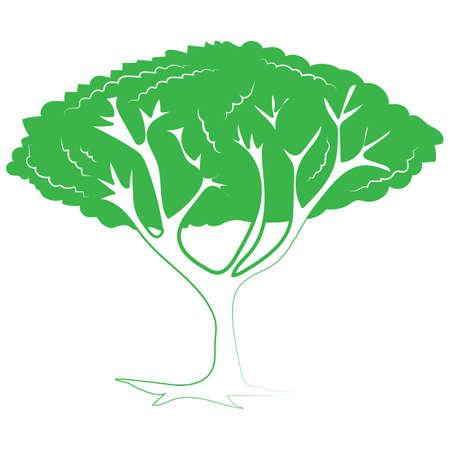Baum-Symbol Standard-Bild - 81536689