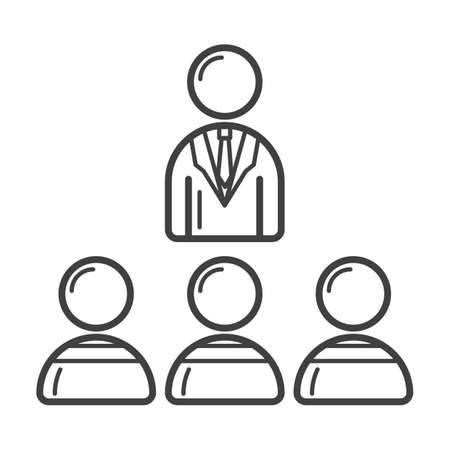 businessman with team