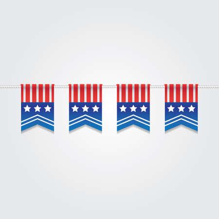 USA bunting flags illustration. Illusztráció