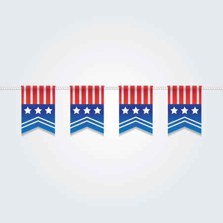 USA Bunting Flags Illustration. Standard-Bild - 81486969