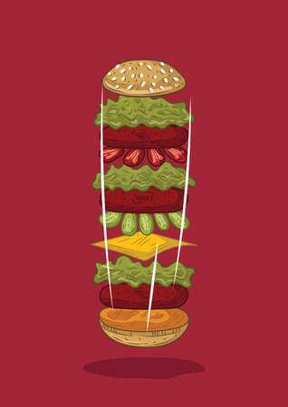 Hamburger Standard-Bild - 81538870