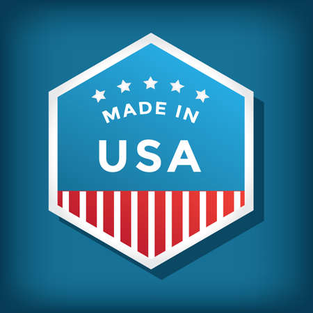 A made in USA label illustration. Stock Vector - 81486973