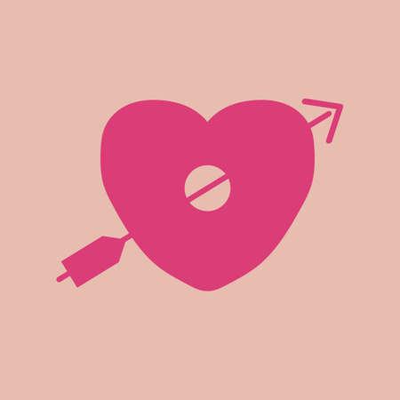coeur avec une flèche percée Vecteurs