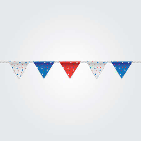 USA Bunting Flags Illustration. Standard-Bild - 81486977